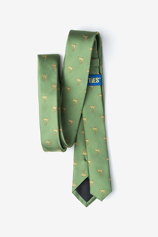 Jumping Reindeer Green Skinny Tie Photo (2)