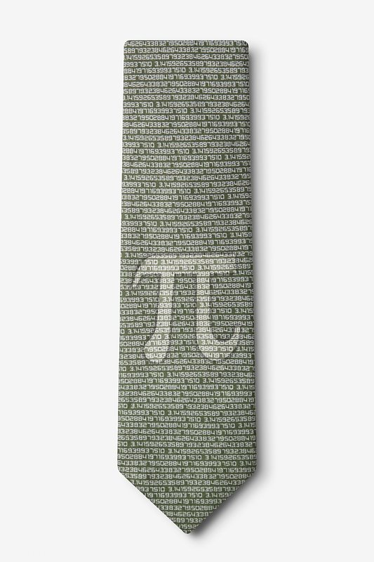 Pi to the 50th Decimal Green Extra Long Tie Photo (1)