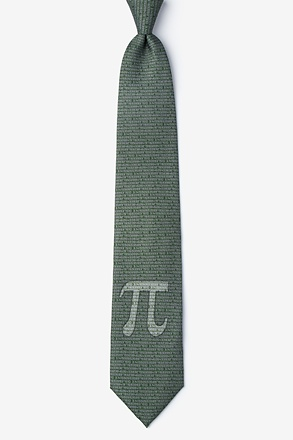 _Pi to the 50th Decimal Green Extra Long Tie_
