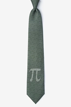 Pi to the 50th Decimal Green Tie