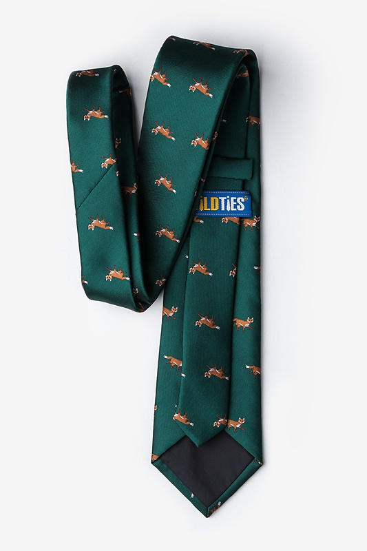 Prowling Foxes Green Extra Long Tie Photo (1)
