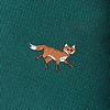 Green Microfiber Prowling Foxes Skinny Tie