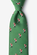 Green Microfiber Santa Golf Extra Long Tie