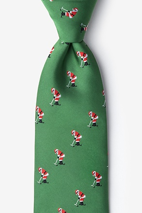 _Santa Golf Green Extra Long Tie_
