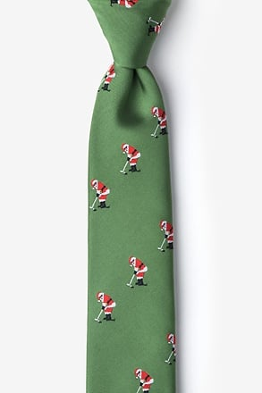 _Santa Golf Green Skinny Tie_