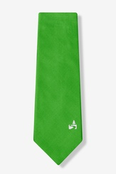 Green Microfiber Save The Forest Tie