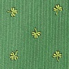Green Microfiber Shamrocks Extra Long Tie