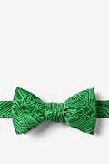 Green Microfiber The Circuit Board Self-Tie Bow Tie