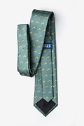 Tobacco Pipes Green Extra Long Tie Photo (2)
