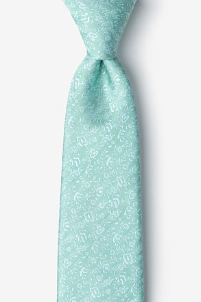 Bali Green Extra Long Tie