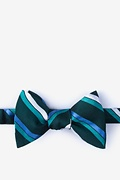Green Silk Bann Butterfly Bow Tie