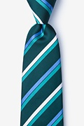 Green Silk Bann Extra Long Tie