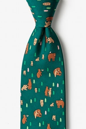 _Bear Necessities Green Tie_