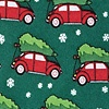 Green Silk Christmas Car-ma Tie