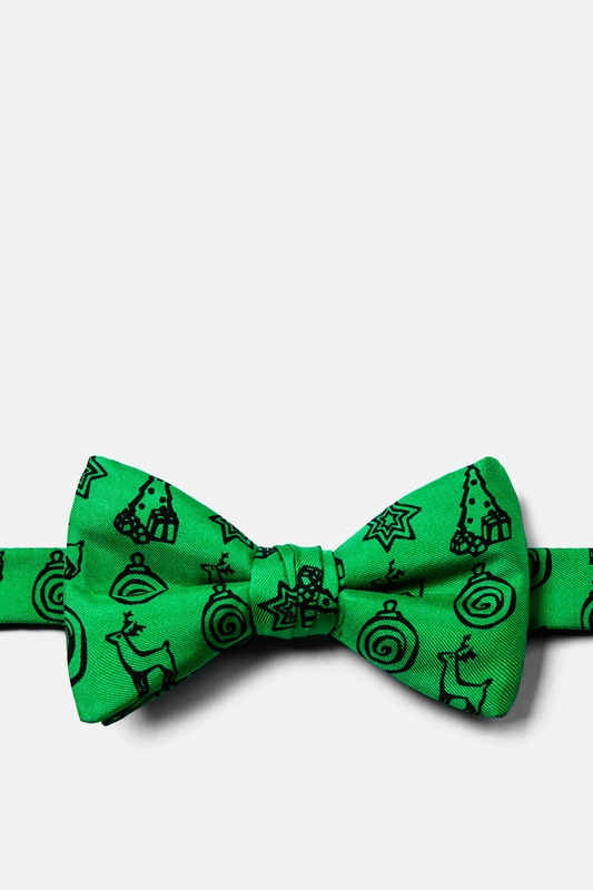 Christmas Icons Pre-Tied Bow Tie