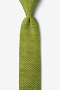 Classic Solid Knit Skinny Tie Photo (0)