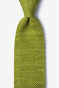 Classic Solid Green Knit Tie Photo (0)