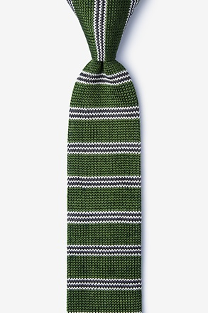 French Stripe Knit Skinny Tie