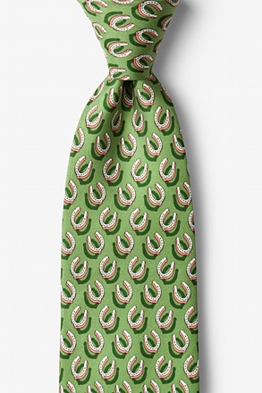 If the Shoe Fits Green Extra Long Tie