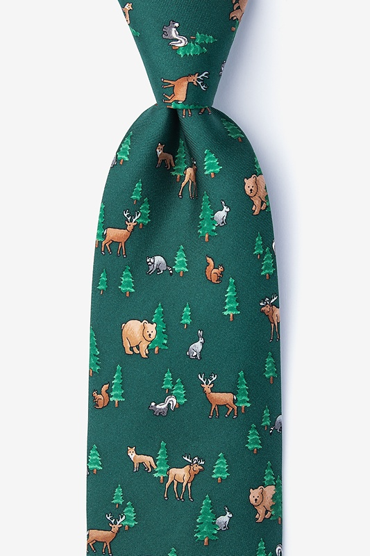 Into the Woods Green Tie Photo (0)