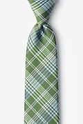 Green Silk Leyte Extra Long Tie