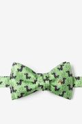 Green Silk Lil' Stinker Self Tie