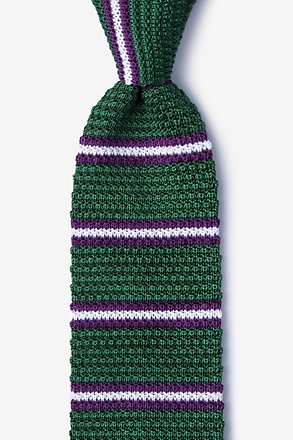 _Maltese Stripe Green Knit Tie_
