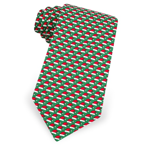 Micro Santa Caps Boys Tie by Alynn Novelty