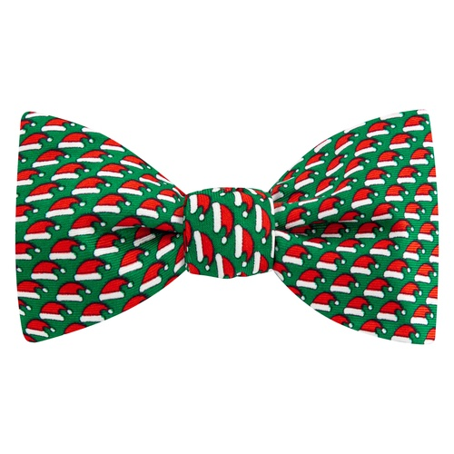 Micro Santa Caps Self Tie Bow Tie by Alynn Bow Ties