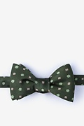 Green Silk Monkey Butterfly Bow Tie