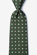 Green Silk Monkey Extra Long Tie