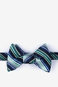 Green Silk Moy Self-Tie Bow Tie