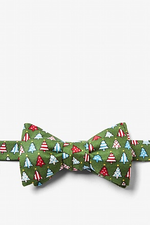 Pa-tree-otic Green Self-Tie Bow Tie