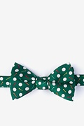 Green Silk Par-Tee Time Self-Tie Bow Tie