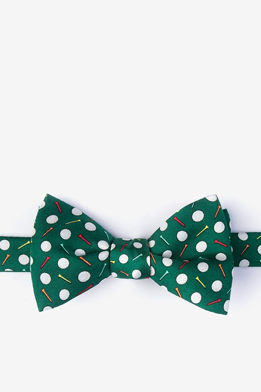 Par-Tee Time Green Self-Tie Bow Tie Photo (0)