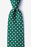Green Silk Par-Tee Time Tie