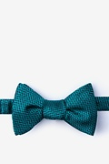 Green Silk Quartz Self-Tie Bow Tie