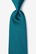 Green Silk Quartz Tie