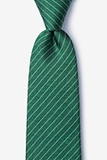 Green Silk Robe Tie