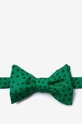 Green Silk Shamrocks Bow Tie