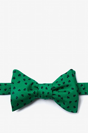 Shamrocks Green Self-Tie Bow Tie