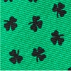 Green Silk Shamrocks with black clovers Tie