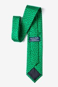 Shamrocks with black clovers Green Tie Photo (2)