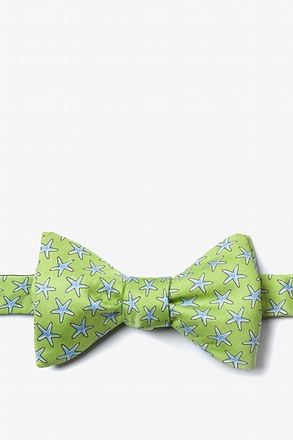 Starfish Green Self-Tie Bow Tie
