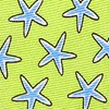 Green Silk Starfish Tie