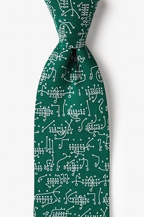 The Art of the Game Green Extra Long Tie