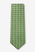 The Perfect Spiral Green Extra Long Tie Photo (1)