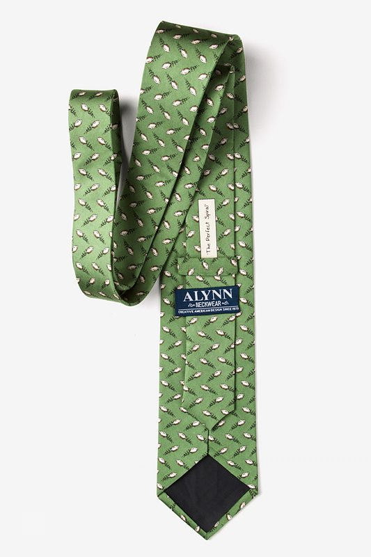 The Perfect Spiral Green Extra Long Tie Photo (2)