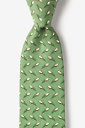 Green Silk The Perfect Spiral Extra Long Tie