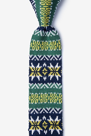 _Winter Green Knit Skinny Tie_